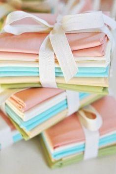 Pastel colour napkins