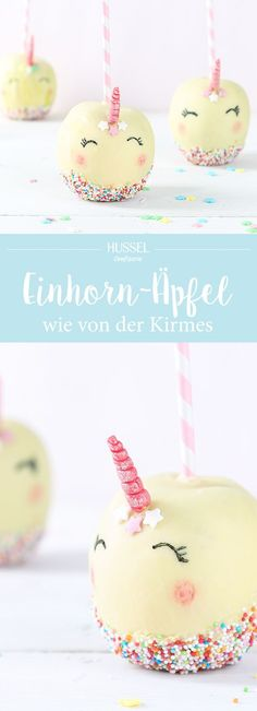 Einhorn Kirmesapfel Who does not love them, these brightly colored sweet apples at the fair? How an apple becomes a magical unicorn fair apple, we show you! Birthday Desserts, Cool Birthday Cakes, Birthday Ideas, Unicorn Foods, Snacks Für Party, Candy Apples, Cake Shop, Food Humor, Unicorn Birthday