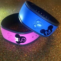 Custom Letter - Mickey or Minnie - Magic Band Decals - FREE Shipping by TiffysCraftCreations on Etsy