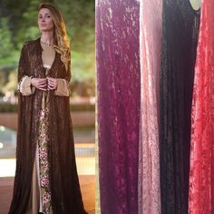 Lace abaya cape 4 colors available. And dress under soft cotton . By OC fashion