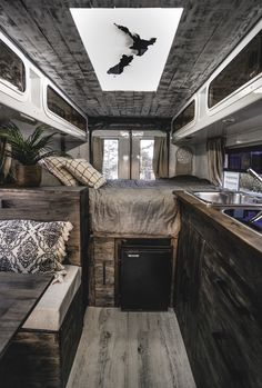 French couple convert Kiwi ambulance into hotel on wheels for $30k | Stuff.co.nz Petit Camping Car, Van Camping, Van Conversion Interior, Camper Van Conversion Diy, Luxury Campers, Kombi Home, Bus Living, Casas Containers, Van Home