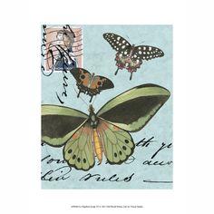 ACHICA | Antiqued Print Workshop - Le Papillon Script VI, Fine Art Print, 25 x 33cm