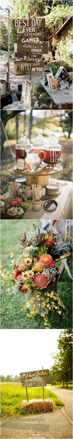Fall & Country Rustic Wedding Theme Ideas… / http://www.deerpearlflowers.com/country-rustic-fall-wedding-theme-ideas/