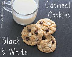black and white oatmeal cookies