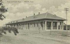 Texas & Pacific Depot, Pecos, Texas