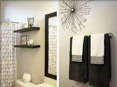 Confira ideias de decoração simples para tirar o banheiro da mesmice! #banheiro #bathroom #decoracao #homedecor #homestyling #interiorstyling #decorstyling #decoraçãodebomgosto #diy #façavocêmesmo #designdeinteriores #prateleiras #banheira #escada #carrinhoauxiliar #carrodemola #decorarfazbem #comprardecoracao.