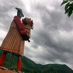 水無月の空の下@香月泰男ロード #30jidori #yamaguchi #nagato instagram.com/p/aUnAJQn7bQ/