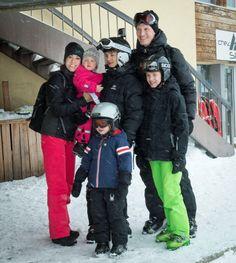 Prince Joachim, Princess Marie with Prince Nikolai, Prince Felix, Prince Henrik and Princess Athena ski in Switzerland 2/12/2014