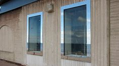 These bespoke waterproof windows are made from marine grade stainless steel and toughened glass.  ... / Credits: Flood Control International