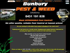 A local pest control business in Bunbury, Western Australia. Specialising in providing honest, affordable and reliable service to the greater Bunbury Region. Services include all general household and commercial pest control, Termite inspections, Termite control as well as residential and commercial weed spraying.