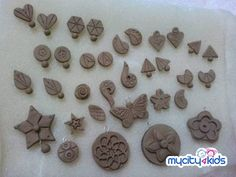 terracotta jewellery making danglor - Google Search