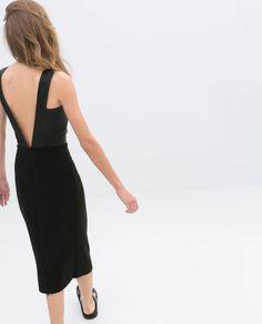 NWT ZARA OPEN-BACK DRESS SS14 Black SIZE M #ZARA #OPENBACKDRESS
