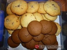 Cookies, όπως του ζαχαροπλαστείου και ακόμα πιο ωραία. Για τα πρωινά σας, για τους καλεσμένους σας και ενα σνακ για τα παιδιά στο σχολείο. Biscuit Bar, Biscuit Cookies, Yummy Cookies, Sweets Recipes, Cookie Recipes, Desserts, Biscuits, Jam Tarts, Cooking Cookies