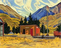 Cass 1936 by Rita Angus   Angus was a New Zealander and Cass is in New Zealand.