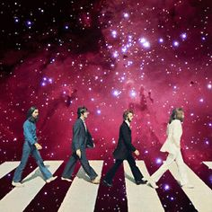 Abbey Road meets Across the Universe.