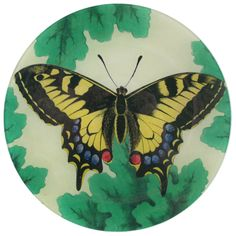 John Derian Company Inc — Meadow Butterflies: Blue/Yellow