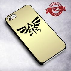 AwesomeLegend of Zelda Triforce Hylian Crest Gold - For iPhone 4/ 4S/ 5/ 5S/ 5SE/ 5C/ 6/ 6S/ 6 PLUS/ 6S PLUS/ 7/ 7 PLUS Case And Samsung Galaxy Case