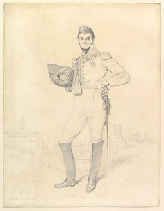 Portrait of General Louis-Étienne Dulong de Rosnay, 1818.  Jean-Auguste-Dominique Ingres