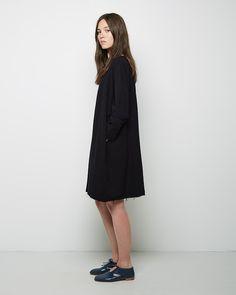 Black Crane  Painter Dress  | La Garçonne