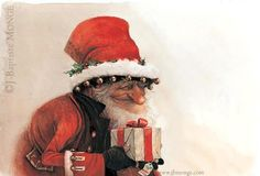 Christmas Illustration #elf / Illustrazione Natale #elfo - Art by Jean-Baptiste Monge