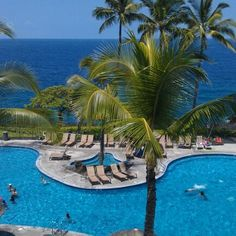 One of the pools at the Sheraton Kona