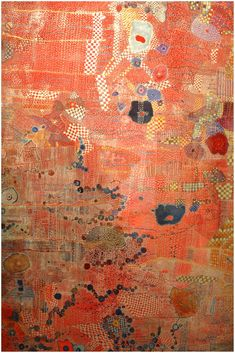 Huguette Caland - Detail of framed textile at LA Contemporary c2974e9adcd