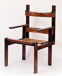 Mobiliário Moderno  Móvel: Cadeira Lattenstuhl Designer(s): Marcel Breuer Ano: 1922 Características: Simplicidade de linhas e a pureza das formas; madeira e couro; ausência de ornamentos; simetria; estética industrial.