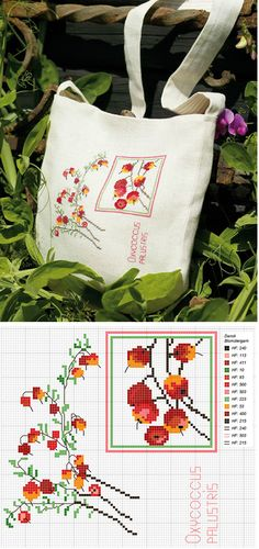 #Cranberries, Cross stitch pattern.
