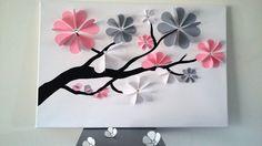livre d'or - arbre à signature 3d- arbre à empreintes avec strass pour 40 à 65 personnes. : Décorations murales par stefebricole