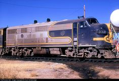RailPictures.Net Photo: ATSF 332 Atchison, Topeka & Santa Fe (ATSF) EMD F7(A) at Hamlin, Texas by Chuck Schwesinger