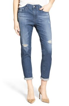'The Beau' High Rise Slouchy Skinny Jeans (Dunes Destroyed)