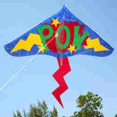 Super Hero Kite #craft.  Would make a cute party banner