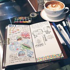 |#inprogress #慢慢來| 旅遊了才五天,但補寫旅行手帳可能用成個月哈哈哈。 #龜速到終點 #✍ #快不了就是快不了