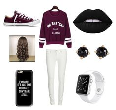 """""""Untitled #12"""" by mia-starr-zamora on Polyvore featuring WithChic, Levi's, Casetify, Converse, Lime Crime, Irene Neuwirth and Apple"""
