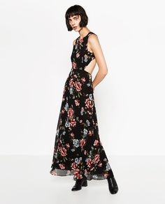 ZARA - WOMAN - LONG DRESS WITH FLORAL PRINT