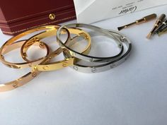 The Reason Why I Need to Buy a Cartier LOVE Bracelet – HoooFashion Key Bracelet, Cartier Bracelet, Love Bracelets, Bangles, Pink And Gold, White Gold, Cartier Gold, Love Symbols, At Least