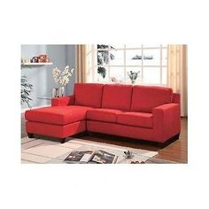 Microfiber Sectional Sofa Reversible Chaise Lounge Small Couch Furniture Relax  sc 1 st  Pinterest : red sectional with chaise - Sectionals, Sofas & Couches