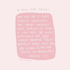 A mini pep talk from me to you, just in case you need one 😘