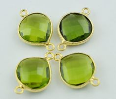 Finest Quality 4 Pieces Lot Peridot Faceted by LeejewelCreations