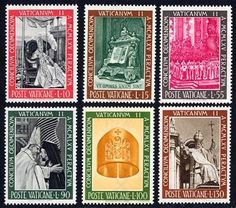 Vatican II Mint Set of 6 Stamps Vatican City, 1966