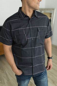 Our new Men's Button Up Shirts are the perfect addition to any man's closet! These shirts are comfy and fashionable!