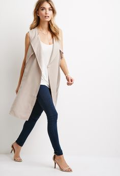 Transitioning your winter wardrobe to spring with a trench vest | $34.90 at FOREVER 21