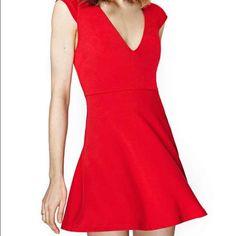 Nasty Gal Talia Dress In Red