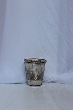 mercury glass vase with ribbed texture