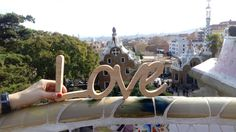 Love Barcelona Plywood letters