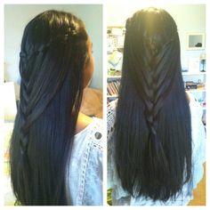Waterfall mermaid braid!