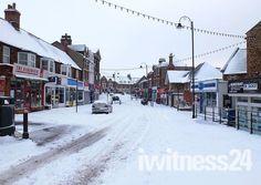 Hunstanton High Street in the snow