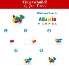 ZOOOM! Here's a guide to build your own jet plane! #DIY #Plane #Build #MegaBloks #LearningGames