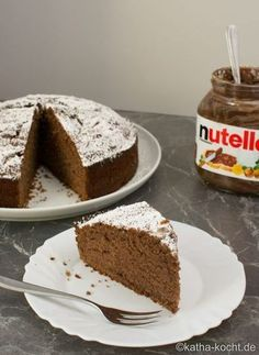 Nutella-Kuchen - Projects to try - Kuchens Cupcake Recipes, Baking Recipes, Cookie Recipes, Snack Recipes, Dessert Recipes, Baking Desserts, Bread Recipes, Nutella Cake, Nutella Cookies