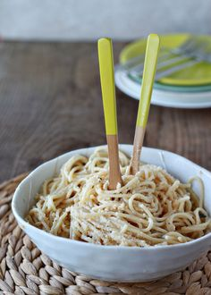 Brown Butter Parmesan Spaghetti | Kitchen Treaty